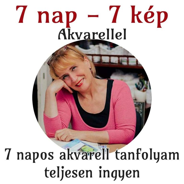 7 nap - 7 kép akvarellel