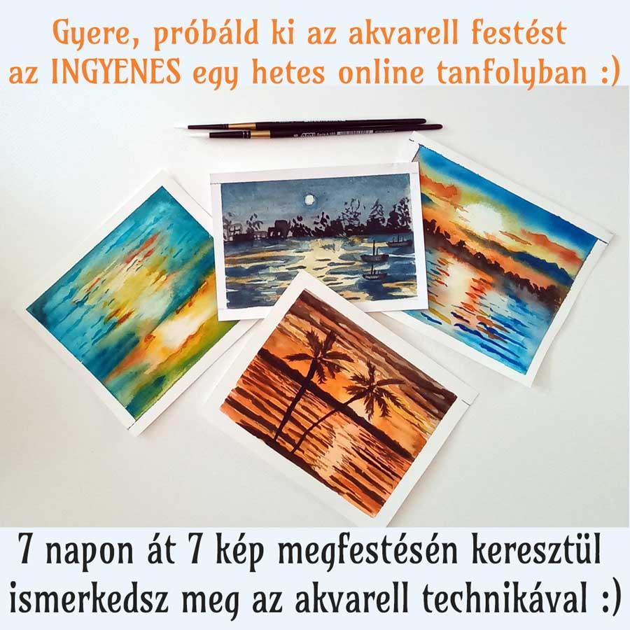7 nap - 7 kép akvarellel v02