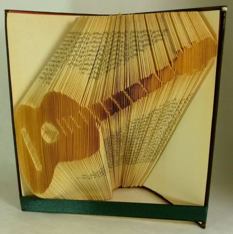 Guitar folded book